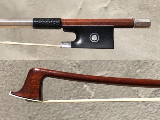 """French Louis Morizot silver violin bow """"E. BOULANGEOT A LYON"""" FRANCE ***CERT***"""