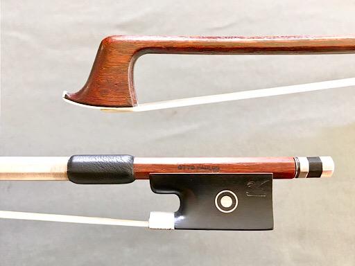OTTO PAULUS ebony/silver violin bow GERMANY 65.4 grams