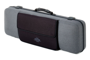 Winter Jakob Winter Greenline grey oblong violin case, 4/4-3/4, w. detachable pocket, GERMANY