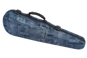 "Winter Jakob Winter ""Jeans"" shaped violin case with shoulder rest space, GERMANY"