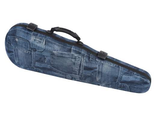 "Winter Jakob Winter ""Jeans"" shaped violin case with shoulder rest space, GERMANY"