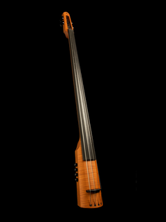 NS Design NS Design CR4T electric 4-string upright bass with amber finish, padded bag, tripod stand, & traditional set-up