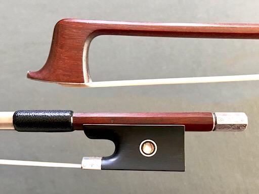 * Josef Sandner engraved silver violin bow
