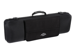 Winter Jakob Winter Greenline black oblong violin case, 4/4-3/4, w. detachable pocket, GERMANY