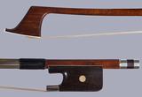 Boyd Poulsen bass bow, French style, ebony/silver, USA