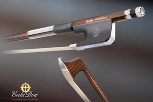 CodaBow CodaBow GLOBAL PRODIGY 3/4 carbon fiber cello bow, USA