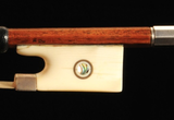 LOTHAR SEIFERT violin bow with ivory & silver frog