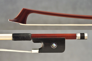JonPaul JonPaul CORONA carbon fiber nickel violin bow with brown finish, USA