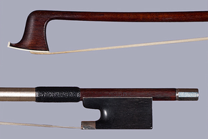 DODD silver violin bow branded BREYER H'NOS, Germany