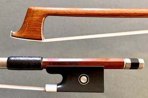 "Brazilian Valdecir ""Sousa Bows"" Classic nickel-mounted violin bow, BRASIL"