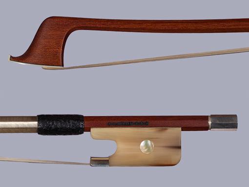 *K. MÜLLER*** Pernambuco cello bow horn/silver, GERMANY
