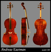 Andreas Eastman 3/4 Cello, model VC305
