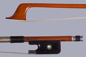 Arcos Brasil French bass bow, silver