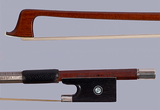French CHARLES BAZIN-FRANCE round violin bow with Raffin certificate, ebony/silver FRANCE, 62.5 g ***CERT***
