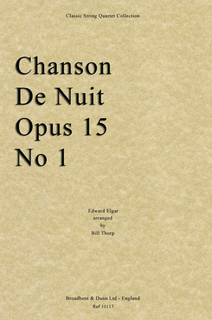 Elgar, Edward (Thorp): Chanson de Nuit (string quartet)