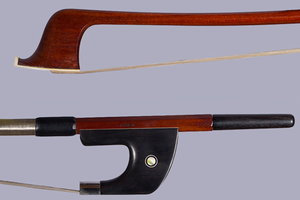 CIRILO SOUSA bass bow, silver, German