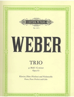 Weber, Carl Maria von: Trio in G minor Op.63 (flute or violin, cello & piano)
