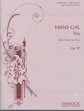 HAL LEONARD Gal, Hans: Trio Op.97 (violin, Clarinet, Piano)