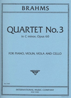 International Music Company Brahms, Johannes: Piano Quartet in C minor, Op. 60 (violin, viola, cello, piano)
