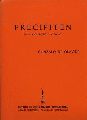 Carl Fischer Olavide, Gonzalo de: Precipiten (cello & piano)