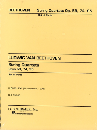 HAL LEONARD Beethoven, L.van: String Quartets Op.59, 74, 95 (set of parts)