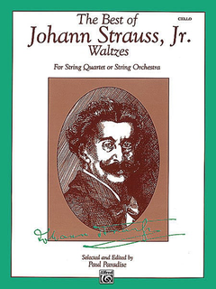 Alfred Music Strauss, J. Jr.: Waltzes for String Quartet or String Orchestra (cello)
