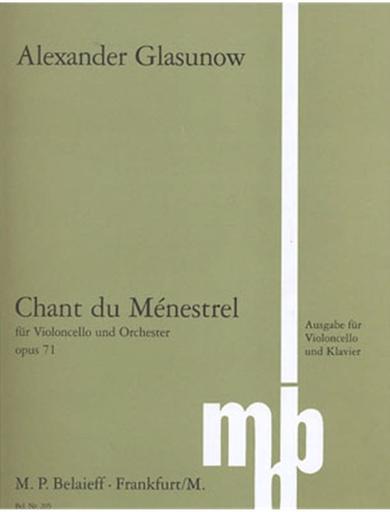 Glazunov, Alexander: Song of the Minstrel Op.71 (cello & piano)