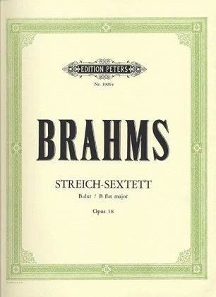 Brahms, Johannes : String Sextet in Bb major, Op.18 (2 violins, 2 violas, 2 cellos)