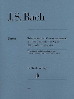 HAL LEONARD Bach, J.S. (Eppstein, ed.): Trio Sonata and Canon Perpetuus from the Musical Offering, BWV 1079, Nos. 8 and 9, urtext (flute, violin, continuo)