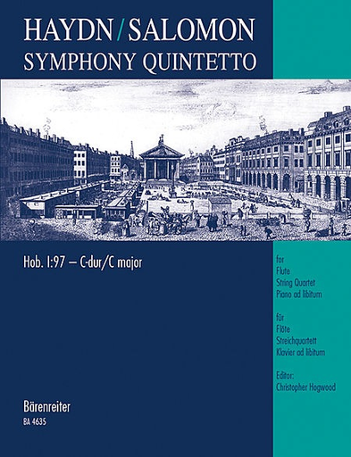 Barenreiter Haydn, F.J. (Hogwood): Salomon Symphony Quintetto (flute, 2 violins, viola, cello, pian)