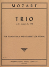 International Music Company Mozart: Trio #7 in Eb KV 498 (violin or clarinet, viola, piano)