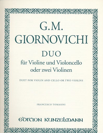 Giornovichi, G.M.: Duo for Violin & Cello or Two Violins