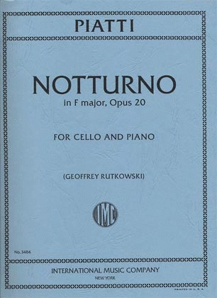 International Music Company Piatti, Alfredo: Notturno in F major Op.20 (cello & piano)