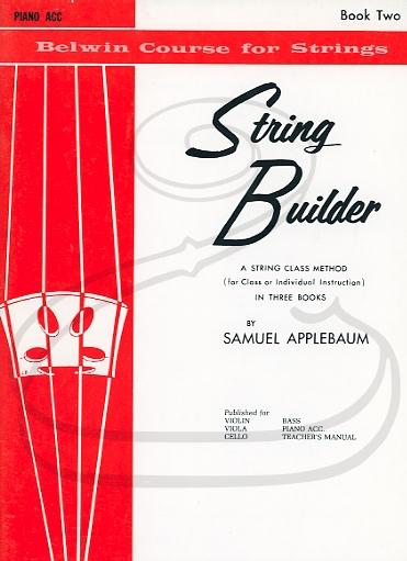 Alfred Music Applebaum: String Builder, Bk.2 (piano accompaniment) Belwin