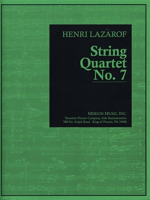 Carl Fischer Lazarof, Henri: String Quartet No. 7, score and parts