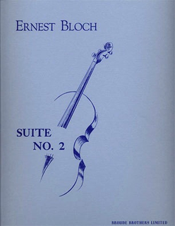 Broude Brothers Limited Bloch, Ernest: Suite No. 2 (cello solo)