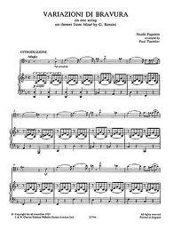 Paganini, Niccolo: Xerox! Variazioni on Rossini's ''Moses'' (cello & piano)