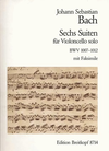 Bach, J.S.: 6 Suites for Cello Solo with facsimile