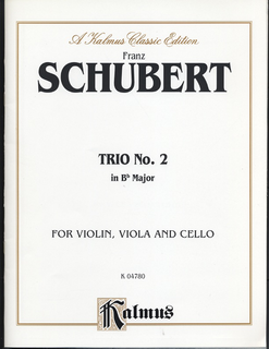 Alfred Music Schubert, Franz: Trio #2 in Bb (violin, Viola, Cello)