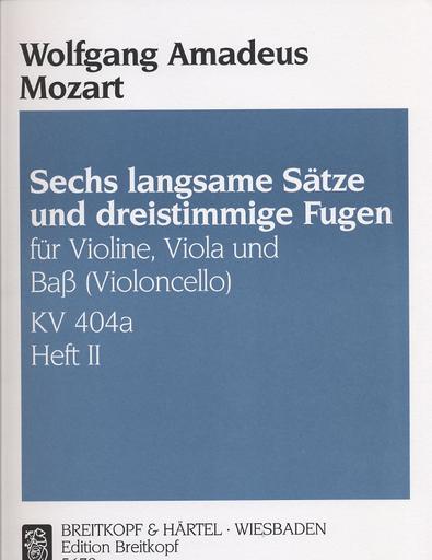 Mozart, W.A.: Trio K404a 2 (violin, Viola, Cello)