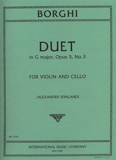 International Music Company Borghi, Luigi: Duet in G Major Op.5#3 for Violin & Cello