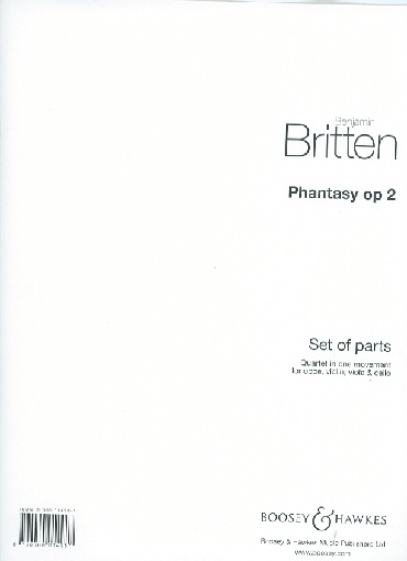 HAL LEONARD Britten, B.: Phantasy Quartet, Op. 2 (oboe, violin, viola and cello)