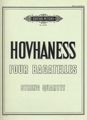 Hovhaness, Alan: Four Bagatelles (string quartet) score and parts