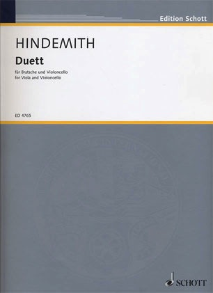 HAL LEONARD Hindemith, Paul: Duet for Viola and Cello (1934)