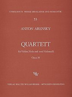 Wollenweber Arensky, Anton: String Quartet Op.35 (violin, viola, 2 CELLOS)