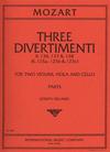 International Music Company Mozart, W.A.: 3 Divertimenti K.136, 137, 138 (string quartet)