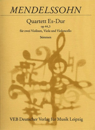 Mendelssohn, Felix: String Quartet in Ev major, Op.44 No.3