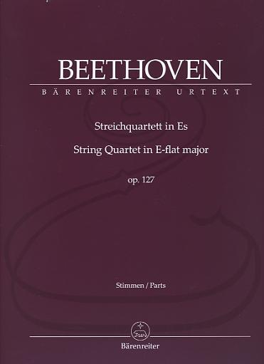 Barenreiter Beethoven (Del Mar): String Quartet in E-flat Major, Op.127 - URTEXT (string quartet) Barenreiter