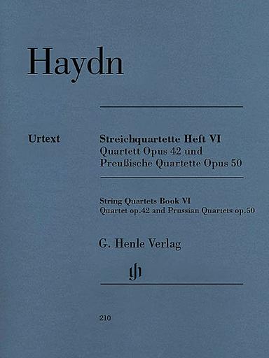 "HAL LEONARD Haydn, F.J.: String Quartets Vol.6, Op.42 and Op. 50, ""Prussian Quartets"", urtext (2 violins, viola, and cello)"
