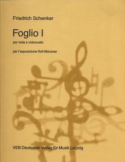 Schenker, Friedrich: Foglio 1 (viola & cello)